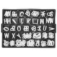 Aarco 1 1/2 inch Helvetica Universal Single Tab Letter and Number Set - 138 Characters