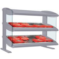 Hatco HXMS-36D Gray Granite LED 36 inch Slanted Double Shelf Merchandiser - 120/208V