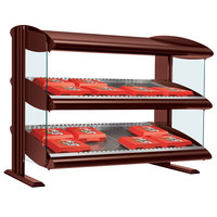 Hatco HXMS-30D Antique Copper LED 30 inch Slanted Double Shelf Merchandiser