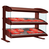 Hatco HXMS-36D Antique Copper LED 36 inch Slanted Double Shelf Merchandiser