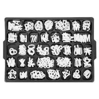Aarco 1 inch Helvetica Universal Single Tab Letter and Number Set - 165 Characters
