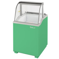 Turbo Air TIDC-26G 26 inch Green Low Curved Glass Ice Cream Dipping Cabinet