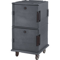 Cambro UPC1600HD191 Granite Gray Ultra Camcart Insulated Food Pan Carrier with Heavy Duty Casters