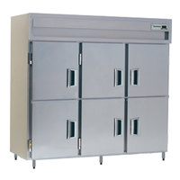 Delfield Stainless Steel SSH3-SH 78.89 Cu. Ft. Solid Half Door Three Section Reach In Heated Holding Cabinet - Specification Line