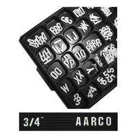 Aarco 3/4 inch Gothic Style Universal Single Tab Letter and Number Double Set - 330 Characters