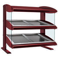 Hatco HZMS-24D Warm Red 24 inch Slanted Double Shelf Heated Zone Merchandiser - 120V