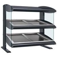 Hatco HZMS-36D Gray Granite 36 inch Slanted Double Shelf Heated Zone Merchandiser - 120/208V