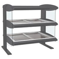 Hatco HZMH-30D Gray Granite 30 inch Horizontal Double Shelf Heated Zone Merchandiser - 120/240V