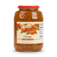Orange Marmalade 4 lb. Glass Jar - 6/Case