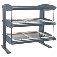 Hatco HZMH-54D Gray Granite 54 inch Horizontal Double Shelf Heated Zone Merchandiser - 120/240V
