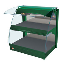 Hatco GRCMW-1DH Green Glo-Ray 26 inch Self Service Double Shelf Curved Merchandising Warmer - 1660W