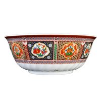 Thunder Group 5308TP Peacock 48 oz. Round Melamine Swirl Bowl - 12/Case