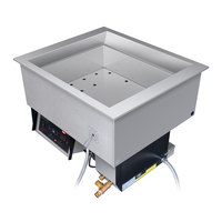 Hatco HCWBI-4DA Four Pan Dual Temperature Hot / Cold Drop In Food Well - 240V, 3 Phase, 4000W