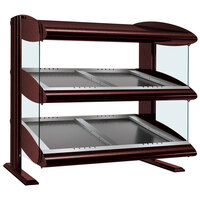 Hatco HZMS-30D Antique Copper 30 inch Slanted Double Shelf Heated Zone Merchandiser