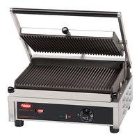 Hatco MCG14G 17 inch Multi Contact Panini Sandwich Grill with Grooved Cast Iron Plates