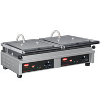 Hatco MCG20G 26 inch Multi Contact Double Panini Sandwich Grill with Grooved Cast Iron Plates