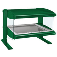 Hatco HZMH-60 Hunter Green 60 inch Horizontal Single Shelf Heated Zone Merchandiser - 120V