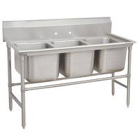 Advance Tabco 94-83-60 Spec Line Three Compartment Pot Sink - 74 inch