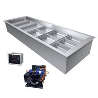 Hatco CWBR-3 Three Pan Refrigerated Drop In Cold Food Well with Drain and Remote Condenser - 120V