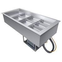 Hatco CWB-4 Four Pan Refrigerated Drop In Cold Food Well with Drain - 120V