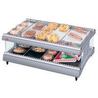 Hatco GR3SDH-39 Gray Granite Glo-Ray 39 inch Horizontal Single Shelf Heated Glass Merchandising Warmer - 120V