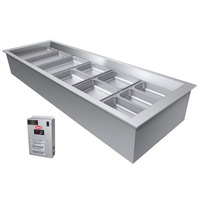 Hatco CWBX-6 Six Pan Refrigerated Drop In Cold Food Well without Condenser - 120V