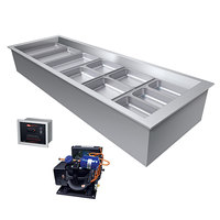 Hatco CWBR-4 Four Pan Refrigerated Drop In Cold Food Well with Drain and Remote Condenser - 120V