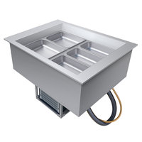 Hatco CWB-2 Two Pan Refrigerated Drop In Cold Food Well with Drain - 120V