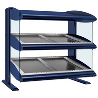 Hatco HZMS-60D Navy Blue 60 inch Slanted Double Shelf Heated Zone Merchandiser