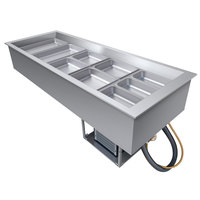Hatco CWB-5 Five Pan Refrigerated Drop In Cold Food Well with Drain - 120V
