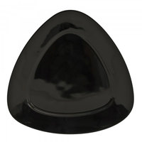 10 Strawberry Street BLK-9TRI 10 1/2 inch Black Triangle Luncheon Plate - 24/Case