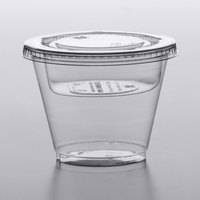 Squat 9 oz. Parfait Cup with 4 oz. Fabri-Kal Insert and Flat Lid - 100/Pack