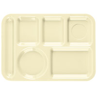 Carlisle P61425 10 inch x 14 inch Tan Left Hand 6 Compartment Tray