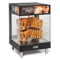 Nemco 6423 2-Tier Heated Countertop Pretzel Merchandiser with 8-Prong Rack - 120V