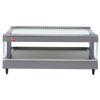 Hatco GR3SDS-39 Gray Granite Glo-Ray 39 inch Slanted Single Shelf Heated Glass Merchandising Warmer - 120V