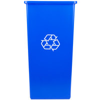 Continental 32-1 SwingLine 32 Gallon Blue Square Recycling Container