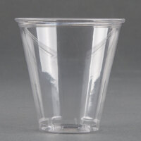 Dart Solo UltraClear TP7 7 oz. Clear PET Plastic Cold Cup - 1000 / Case