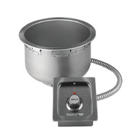Wells SS10TDUI 11 Qt. Insulated Round Drop-In Soup Well with Drain - Top Mount, Thermostatic Control, 120V