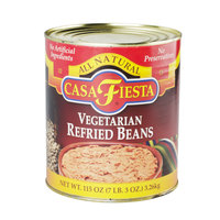 Casa Fiesta Vegetarian Refried Beans 6 - #10 Cans / Case