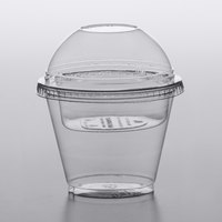 Squat 9 oz. Parfait Cup with 4 oz. Fabri-Kal Insert and Dome Lid - 100/Pack