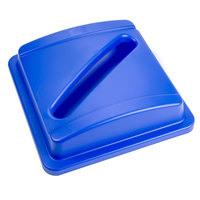 Continental 1725-1 SwingLine Blue Square Recycling Lid with Slot