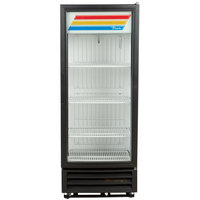 True GDM-12F-LD Black 25 inch Glass Door Merchandiser Freezer with LED Lighting - 12 Cu. Ft.