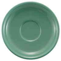 CAC TG-2-G Tango 6 inch Green Round Saucer - 36/Case
