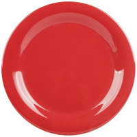 "GET NP-9-CR Cranberry Diamond Harvest 9"" Narrow Rim Plate - 24/Case"