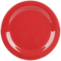GET NP-9-CR Cranberry Diamond Harvest 9 inch Narrow Rim Plate - 24/Case