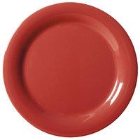 GET NP-9-CR Cranberry Diamond Harvest 9 inch Narrow Rim Plate - 24/Case