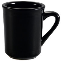 CAC TG-17-BLK Tango 8 oz. Black Mug - 36/Case