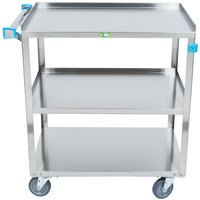 Lakeside 422 Medium Duty Stainless Steel 3 Shelf Utility Cart - 19 inch x 31 inch x 32 inch