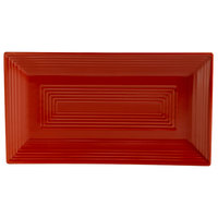 CAC TG-RT13-R Tango 11 5/8 inch x 6 3/8 inch x 1 inch Red Rectangular Platter - 12/Case