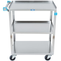 Lakeside 311 Standard Duty Stainless Steel 3 Shelf Utility Cart - 16 1/4 inch x 27 1/2 inch x 32 1/8 inch